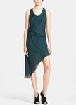 Haute Hippie Asymmetrical Silk Dress