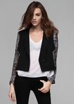 Black Cinder Wool Jacket