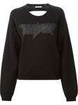 ICEBERG sheer back logo sweatshirt