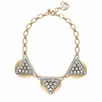 J CREW CRYSTAL TRIANGLES NECKLACE