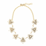 J.CREW Gold Crystal Snowflake Necklace
