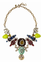 J.CREW Goldtone Crystal Necklace
