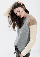 Gray Collection Cashmere Sweater in Colorblock