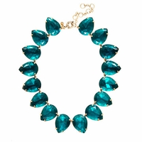 J Crew Pagoda Blue Pear Necklace