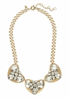 J.CREW White Crystal And Metal Necklace