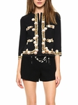 Pearl Print Jacket Black