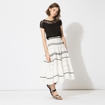 JEANNE Long embroidered skirt - 6.3