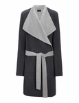 Joseph Gray Double Cashmere Lisa Long Coat