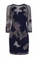 Karen Millen Dress in Embroidered Lace Mesh