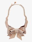 KATE SPADE ALL WRAPPED UP PAVE BOW COLLAR NECKLACE