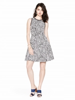 Kate Spade Beige Leopard Jacquard Dress