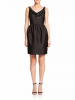 Kate Spade Black Embellished Cupcake Dress