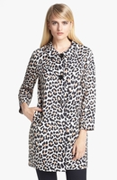 Kate Spade Black Franny Animalprint Coat