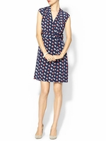 Kate Spade Blue Villa Silk Dress