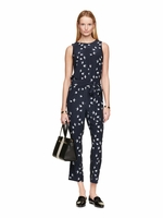 Kate Spade Blue Winter Swallow Jumpsuit