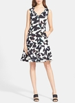 Kate Spade Butterfly Fit Flare Dress