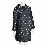 Dorothy Coat with Side Collar Bow Polka Dot