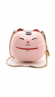 Hello Tokyo Lucky Cat Minaudiere Pink