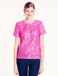 KATE SPADE NEW YORK Alexandria Scalloped Lace Trim Top