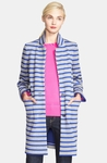 kate spade new york 'scuba stripe' oversized sweater coat