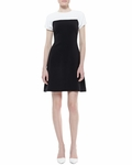 Kate Spade Tala Sleeveless Colorblock Dress Creamblack