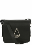 KENZO Teardrop Black Leather Shoulder Bag