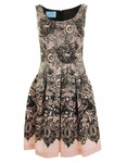 Laced Printed Princess Dress