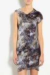 Lang's Silk-blend print dress