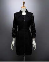 Leather Patched Coat (On Sale)