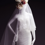 Length Veil with Lace Edge