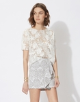 LUXURIANT Embroidered organza top
