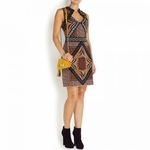 Multicoloured acrylic blend dress