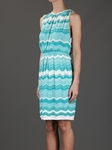 White Zig-Zag Iconic Wave Stripe Dress (On Sale)