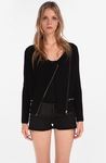 Maje Black Damour Wool Cashmere Jacket