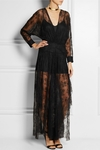 Black Gabriela Lace Maxi Dress