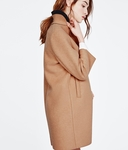 MAJE GRACE Camel wool-blend coat