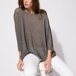 MAJE MARIUS Oversize printed cotton sweater