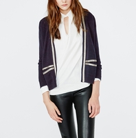 MAJE MIRANDA Silk and wool blend cardigan with chain