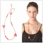 'Petal to the Metal' Long Station Necklace