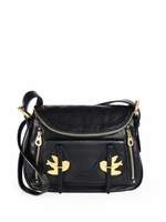 Black Petal To The Metal Natasha Shoulder Bag