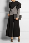 Black Sixties Bow-effect Stretch-twill Cape