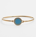 Gold Classic Marc Disc Skinny Bangle