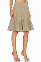 Marc By Marc Jacobs Green Stretch Poplin Midi Skirt