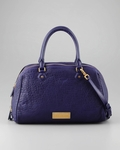Washed Up Lauren Leather Satchel Bag Electric Blue