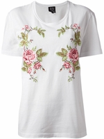 White Embroidered Tshirt