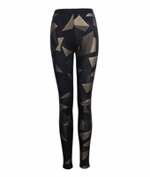 Metallic Abstract Legging