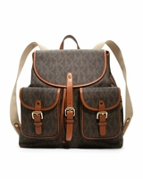 Michael by Michael Kors Brown Jet Set Backpack