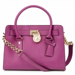 Purple Hamilton Saffiano Leather Tote