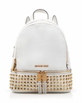 Michael Kors Rhea Zip Soft Venus Studded Backpack