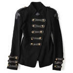 Military Style Wool Felt Jacket